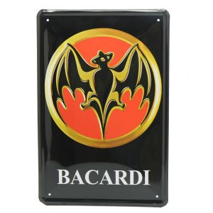 Placa de Metal Bacardi