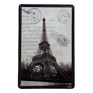 Placa de Metal Paris