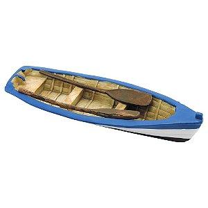 Decorativo Náutico Canoa com Remos