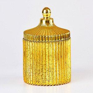 Pote Dourado de Vidro