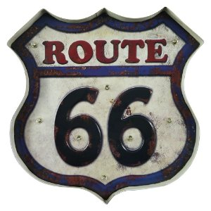 Placa de LED Route 66