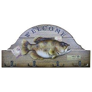 Cabideiro de Parede Peixe Welcome