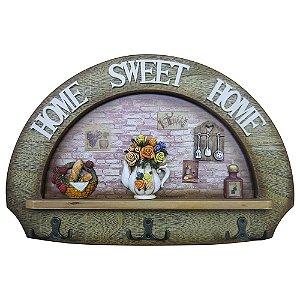 Cabideiro de Parede Home Sweet Home