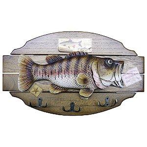 Cabideiro de Parede Decorativo Peixe