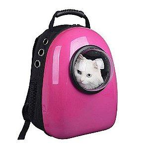 Mochila de Transporte p/ Gatos Rosa - Mister Zoo