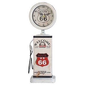 Relógio de Mesa Bomba Branco 36cm