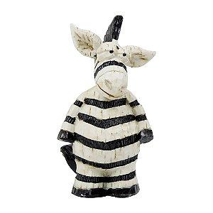 Zebra Decorativa de Resina