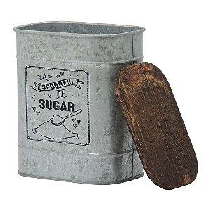 Lata de Metal Prata Sugar