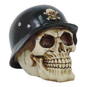 Decorativo Caveira Militar de Resina