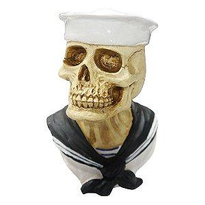 Decorativo Caveira Marinheiro de Resina