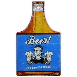 Tag de Cerâmica Beer Azul