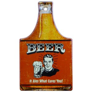 Tag de Cerâmica Beer Vermelho