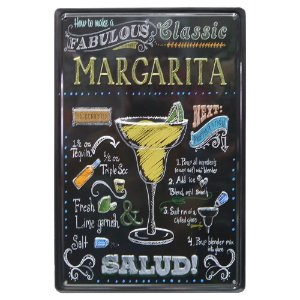 Placa de Metal Margarita