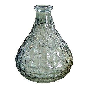 Vaso de Vidro Verde Gota
