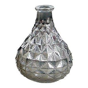 Vaso de Vidro Prata Gota