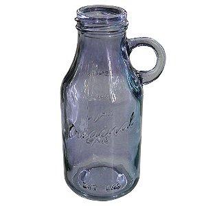 Vaso de Vidro Roxo estilo Garrafa