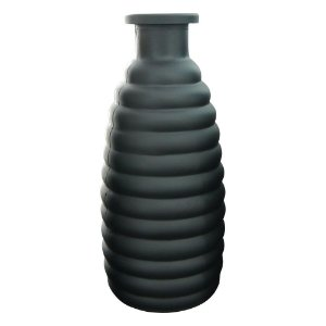 Vaso de Vidro Lyor Preto Fumê