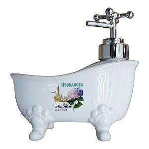 Saboneteira Banheira de Cerâmica Hydrangea