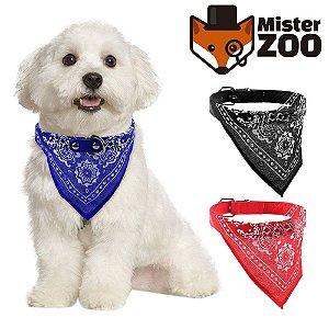 Coleira com Bandana pra PET - Mister Zoo