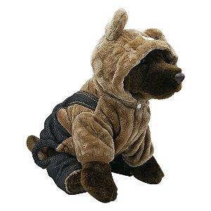 Roupa de PET Jardineira Urso