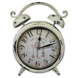 Relógio de Mesa Branco Vintage