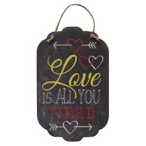Decorativo Tag de Parede Love is all you need