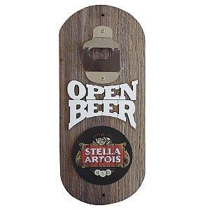 Abridor de Garrafa de Parede Open Beer Stella Artois