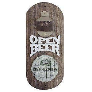Abridor de Garrafa de Parede Open Beer Bohemia