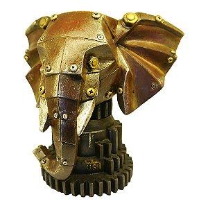 Elefante Mecânico Vermelho Decorativo com Cofre