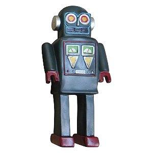 Enfeite Robô Azul de Resina