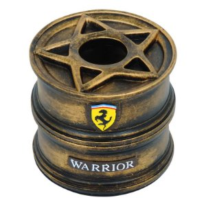Porta Papel Roda Warrior Dourado