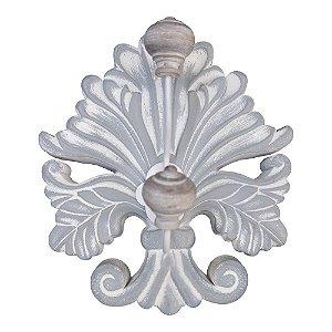 Cabideiro Ornamental Rústico Branco de Madeira
