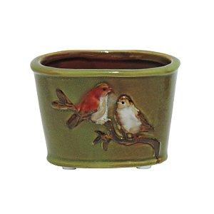 Mini Vaso Pássaro Verde