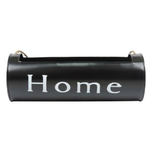 Vaso de Metal Porta Flores Home Black