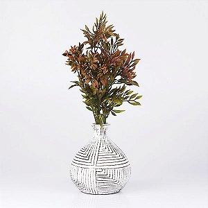 Vaso de Cerâmica Piva Branco