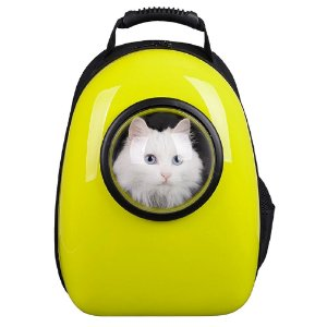 Mochila de Transporte Gatos Amarelo - Mister Zoo