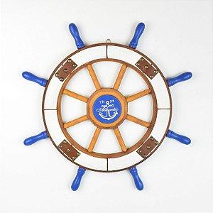 Timão Decorativo Rústico Azul Grande