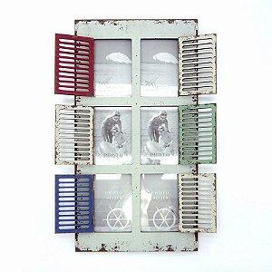 Porta Retrato Janela Vintage