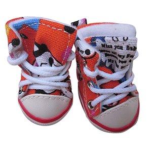 Tênis Sapato Ursinho para PET 4 Peças