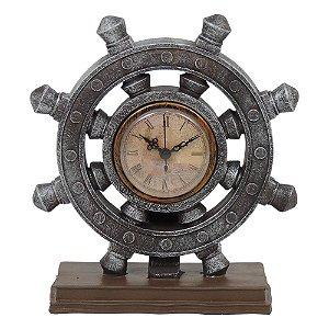 Relógio Timão Rústico Marrom
