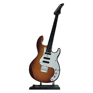 Guitarra Marrom Clássico de Mesa