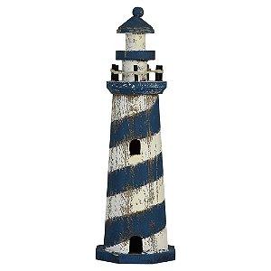Farol de Madeira Rústico Azul