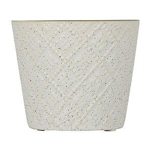 Vaso de Cerâmica Betine Branco 9x10cm