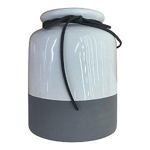 Vaso de Cerâmica Minimal Redondo