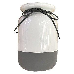 Vaso de Cerâmica Minimal Laço
