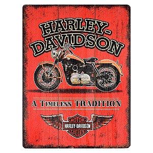 Quadro de Madeira Harley Davidson