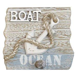 Cabideiro de Madeira Boat Náutico