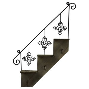 Porta Chaves Escada de Metal