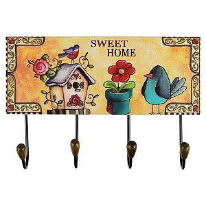 Cabideiro Sweet Home Flor
