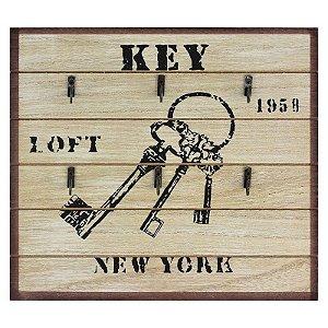 Porta Chaves de Madeira Key Rústico